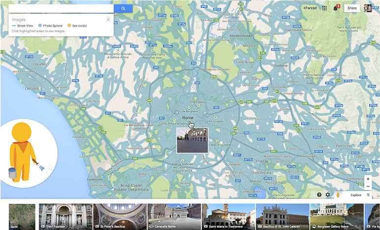 Find imagery coverage with Pegman
